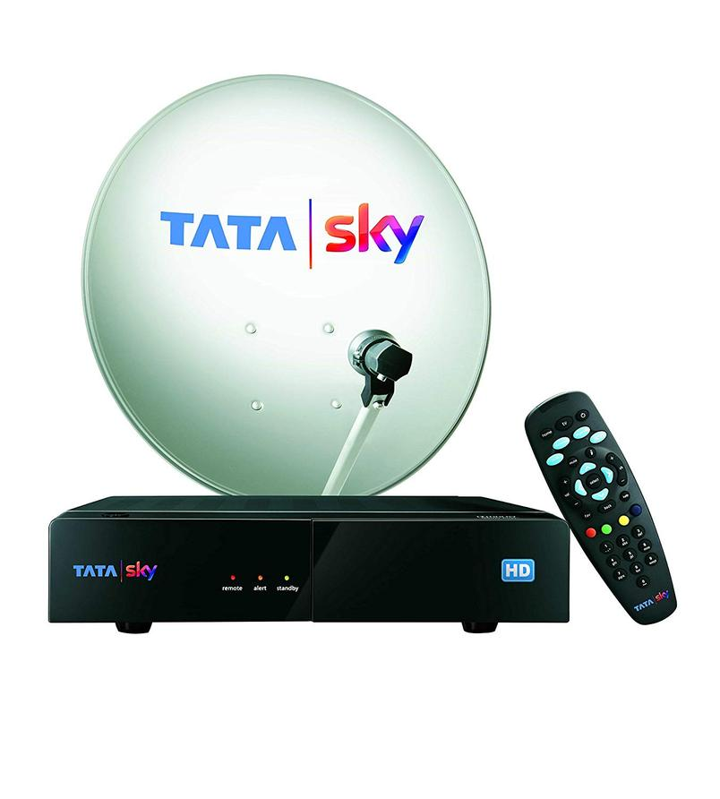 Hindi Lite HD New Tata Sky Pack with 30 days free includes 100 FTA channels With HD Box